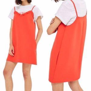 Topshop Ruffle Mini Dress